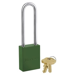 Picture of Masterlock 6835LTGRN Alum Powder Coated 40mm Wide Body