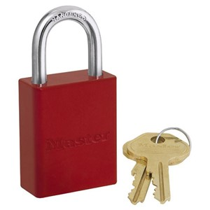 Picture of Masterlock 6835RED Alum Powder Coated 40mm Wide Body