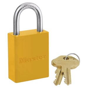 Picture of Masterlock 6835YLW Alum Powder Coated 40mm Wide Body