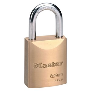 Picture of Masterlock 6840K Solid Brass 40mm wide body Boron Shackle