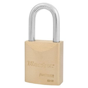 Picture of Masterlock 6840LFK Solid Brass 40mm Wide Body Boron Shackle