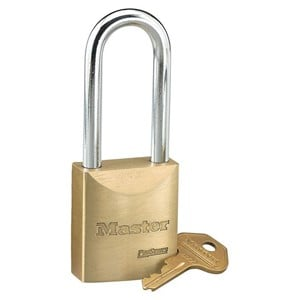 Picture of Masterlock 6840LJK Solid Brass 40mm Wide Body Boron Shackle