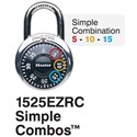 Picture of Masterlock 1525EZRC Simple Combination Dial 48mm Wide Body Black
