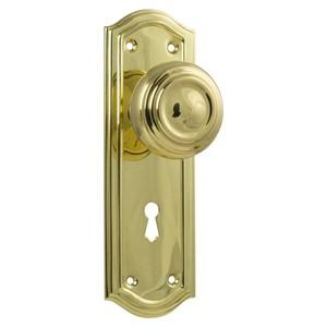Picture of Tradco 1073 Kensington Knob Lock 175x58mm PB