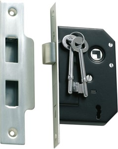 Picture of Tradco 1132 3 Lever Mortice Lock 63-B44mm SC
