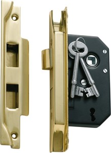 Picture of Tradco 1138 3 Lever Rebated Lock 63-B44mm PB