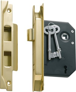 Picture of Tradco 1139 3 Lever Rebated Lock 76-B57mm PB