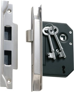 Picture of Tradco 1159 3 Lever Rebated Lock 76-B57mm SC