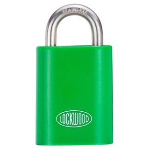 Picture of Lockwood 215A619 50mm Padlock 19mm Shackle Green Cover KA