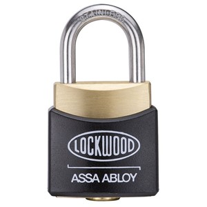 Picture of Lockwood 312EL/19 Brass Padlock 19mm Shackle No Cover