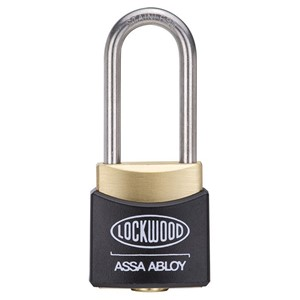 Picture of Lockwood 312EL/38 Brass Padlock 38mm Shackle No Cover