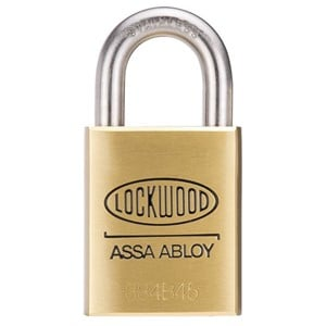 Picture of Lockwood 334 Brass 45mm Padlock 25mm SS Shackle 5P KD