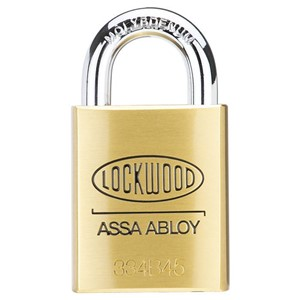 Picture of Lockwood 334 Brass 45mm Padlock 19mm CM Shackle 6P KD
