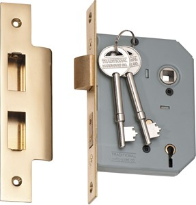 Picture of Tradco 2143 5 Lever Lock 57mm PB