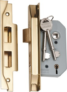 Picture of Tradco 2146 Rebated 5 Lever Lock 46mm PB