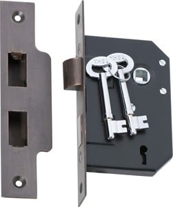 Picture of Tradco 2200 3 Lever Mortice Lock 63-B44mm AB