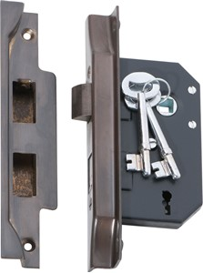 Picture of Tradco 2204 3 Lever Rebated Lock 63-B44mm AB