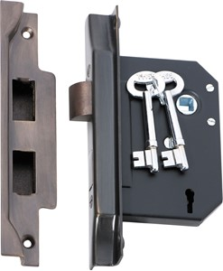 Picture of Tradco 2205 3 Lever Rebated Lock 76-B57mm AB