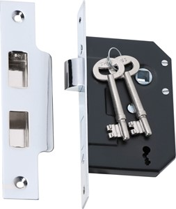 Picture of Tradco 2210 3 Lever Mortice Lock 63-B44mm CP