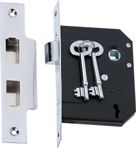 Picture of Tradco 2211 3 Lever Mortice Lock 76-B57mm CP