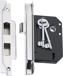Picture of Tradco 2215 3 Lever Rebated Lock 76-B57mm CP