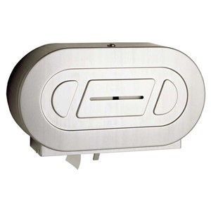 Picture of Bobrick B2892 Surface Mounted Twin Jumbo Roll Toilet Tissue Dispenser