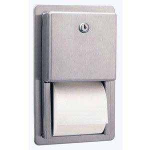 Picture of Bobrick B3888 Contura Recessed Multi-Roll Toilet Tissue Dispenser