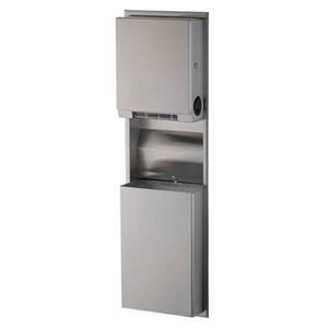 Picture of Bobrick B3961 Classic Recessed Convertible Paper Towel Dispenser/Waste Bin