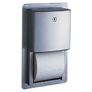 Picture of Bobrick B4388 Contura Recessed Multi-Roll Toilet Tissue Dispenser