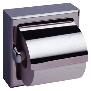 Picture of Bobrick B6699 Surface Mounted Toilet Tissue Dispenser with Hood
