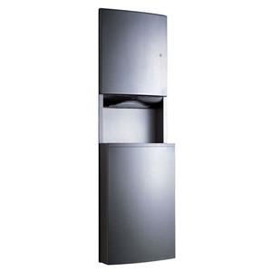 Picture of Bobrick B43944 Contura Recessed Paper Towel Dispenser/Waste Bin