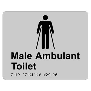 Picture of RBA 4330-022 Tactile Sign Male Ambulant SS