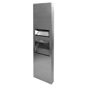 Picture of ASI JD MacDonald 10-64671-2-A 3-in-1 Paper Towel Dispenser, High-Speed Hand Dryer & Waste Bin