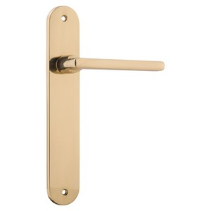 Picture of Tradco 10226 Baltimore Lever on Oval Backplate Latch - PB