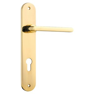Picture of Tradco 10226E85 Baltimore Lever on Oval Backplate Euro - PB