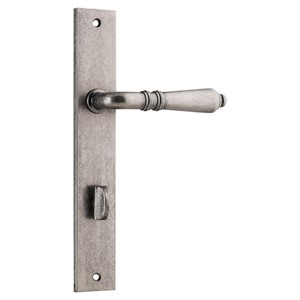 Picture of Tradco 13700P85 Sarlat Lever on Rectangular Backplate Privacy - RN