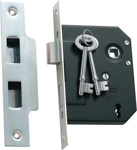 Picture of Tradco 1133 3 Lever Mortice Lock 76-B57mm SC