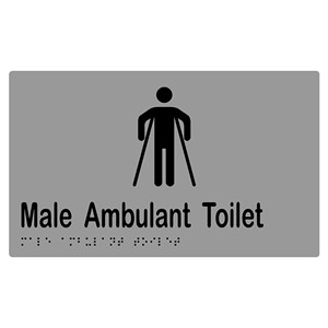 Picture of Metlam Male Ambulant Toilet Braille Signage - Silver