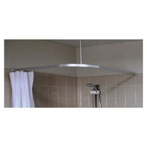 Picture of Metlam Micro L Bend Shower Curtain Track - 1600 x 1600mm