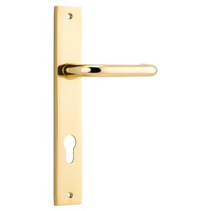 Picture of Tradco 10344E85 Oslo Lever on Rectangular Backplate - PB