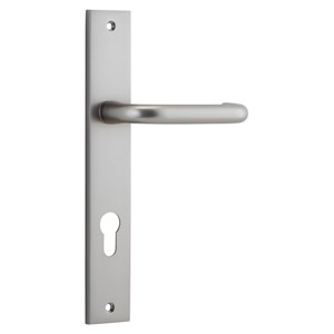 Picture of Tradco 14844E85 Oslo Lever on Rectangular Backplate - SN