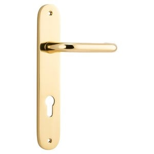 Picture of Tradco 10346E85 Oslo Lever on Oval Backplate - PB